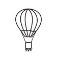 outline hot air balloon vector image