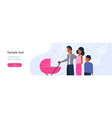 parents with son and bain pram walking together vector image vector image