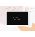 photo frame on beautiful background vector image vector image
