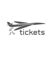 plane tickets design template vector image