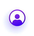 purple user icon in circle a solid gradient vector image vector image