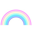 rainbow arc shape half circle pastel neon vector image