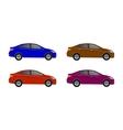 realistic car sedan set isolated on grey vector image vector image