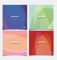 set banners with abstract wave background from vector image vector image