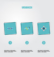 set of trendy icons flat style symbols with vector image vector image