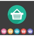 Shopping basket flat icon vector image vector image