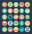 Shopping Colored Icons 4 vector image vector image