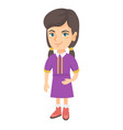 smiling little caucasian kid girl vector image vector image
