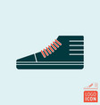 sneakers sports shoe symbol vector image vector image