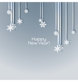 Snowflakes holiday frame vector image vector image