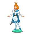 statuette of a fairy young prince isolated on vector image
