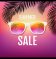 summer sale poster with palm trees vector image vector image