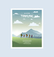 traveling poster vector image vector image