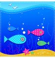 underwater ocean and fishes vector image vector image