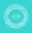 vintage frame in trendy linear frame for florist vector image vector image
