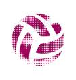 volleyball orange symbol vector image vector image
