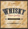whisky label for bottle vector image vector image