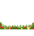 Xmas Border With Fir Tree vector image vector image