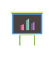 analytics data icon business flat chart flat bar vector image