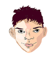boy face drawing looking right vector image