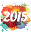 2015 New Year paint splat colorful background vector image vector image