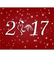 2017 fire rooster Stylized lettering on a red vector image vector image