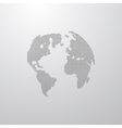 a world globe map vector image vector image