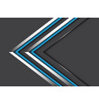 abstract twin blue silver line direction on grey vector image vector image