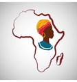 Africa design map icon Flat vector image vector image