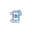 app development line icon concept app development vector image vector image