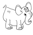 black and white elephant vector image