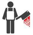 bloody butcher flat icon symbol vector image vector image