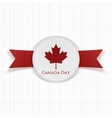 Canada Day greeting red Label vector image vector image