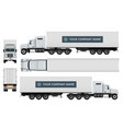 cargo truck template vector image vector image