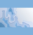carving blue paper cut background 3d vector image