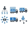 Cash Delivery Flat Icons