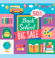 chalkboard and hand drawn lettering back to school vector image vector image