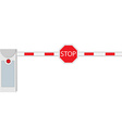 Closed barrier vector image vector image