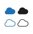 cloud icon set simple vector image