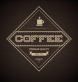 Coffee Label for restaurant vector image