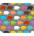 Color bears seamless pattern Background of lovely vector image