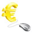 computer mouse euro concept vector image vector image