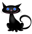 cute black cat vector image vector image