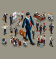 dark people isometric people vector image vector image