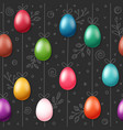 easter eggs on rope holiday seamless magenta vector image vector image