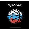 Flag of Russia as an abstract basketball ball vector image