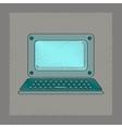 flat shading style icon laptop vector image