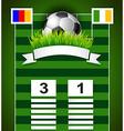 Football scoreboard design on field vector image vector image