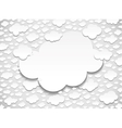 Frame with many cut out white paper clouds vector image vector image