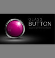 glass pink button vector image vector image